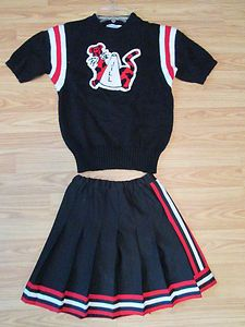 Vintage Cheerleader Uniform Sweater With NEW Skirt Costume Fun JILL
