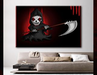 modern Canvas art comic chibi grim reaper 30x45