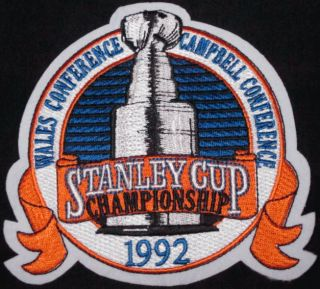 1992 NHL Hockey Stanley Cup Jersey Patch Pittsburgh Penguins Chicago