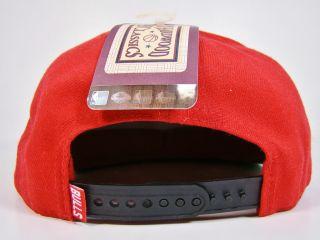 Chicago Bulls Snapback Hat Red Jumbo Scribe Logo Jordan Rose Pippen 47