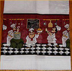 Fat Chef Kitchen Curtains Window Valance Bistro Waiter Curtains