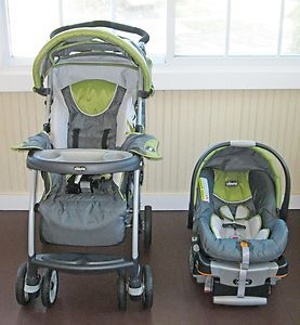 Chicco Cortina KeyFit 22 Travel System Safari Car Seat with Base and