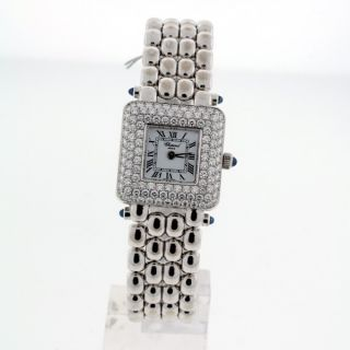 chopard classic 18k white gold ladies diamond watch