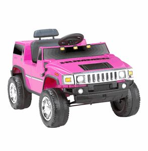 Kids Battery Powered Ride on Toy Pink Girls Hummer 6V Volt Car SUV