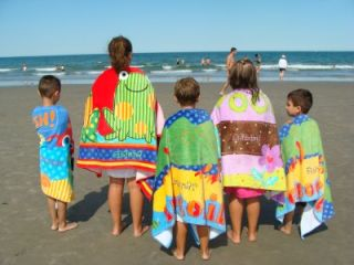 personalized embroidered fun kids beach towels