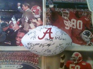 1992 Alabama National Champions Signed Football Merry Christmas