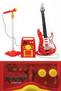 Guitar Microphone Amplifier Toys Kids Karaoke Electric Rock Band Boy