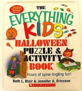 Everything Kids Halloween Puzzles Book Age 7 11 Match Crossword Search