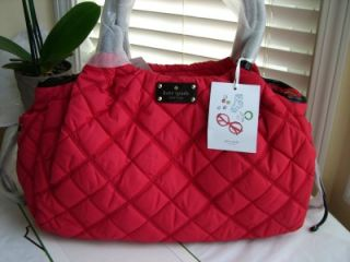 kate spade chestnut ridge red diaper baby bag $ 425