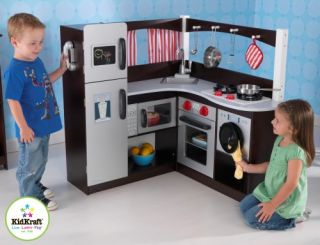 New Childrens Kids Wooden Wood Pretend Play Grand Corner Kitchen