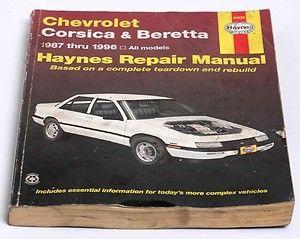 Haynes Auto Repair Manual Chevrolet Corsica Beretta 1987 to 1996 24032