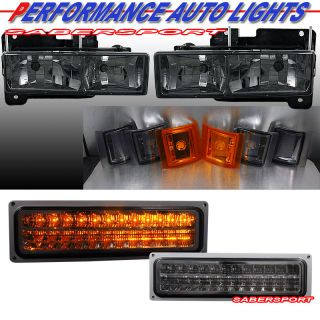 94 99 Chevy CK C10 Full Size Headlights Corner LED Parking Signal