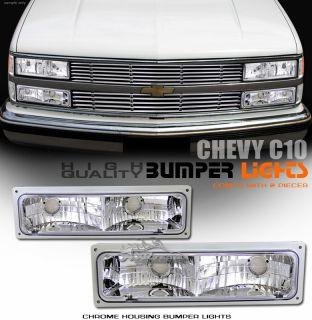 Bumper Signal Lights 88 02 Chevy GMC C K 1500 2500 3500 Pickup