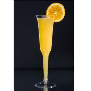 40 Plasic CHAMPAGNE Flue Glass 5 oz 1 Piece Disposable Pary Wedding