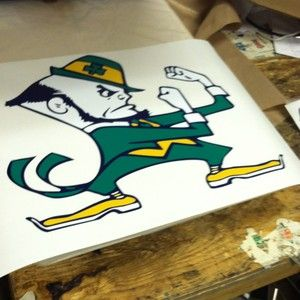 Notre Dame Fighting Irish Cornhole Board Decals NEW Irish ND Golden