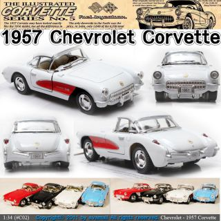 1957 Chevrolet Corvette 1 34 5 Color Selection Diecast Mini Car