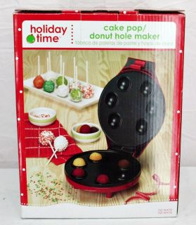 NEW Christmas HOLIDAY TIME Cake Pop Donut Hole Maker   Nice Gift