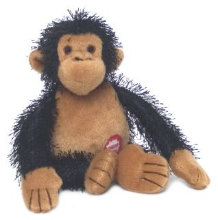 Chimp Screaming Dark Plush Dog Toy Pet Qwerk I Scream