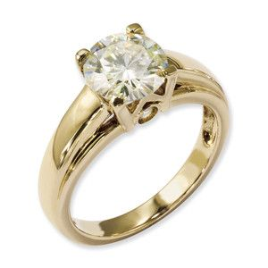 Ct Moissanite Engagement Ring Charles W Signature Collection 14k
