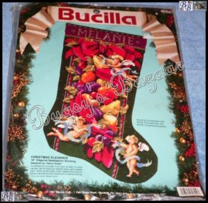 Bucilla Christmas Elegance Stocking Needlepoint Kit Nancy Rossi Angels