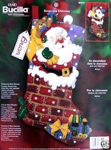 Down The Chimney Felt Christmas Stocking Kit Factory Direct