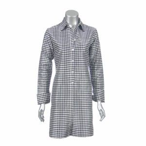 Patrick Christopher Womens Silk Gingham Tunic Shirt