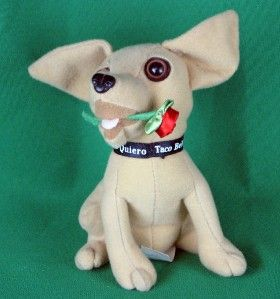 Taco Bell Yo Quiero Chihuahua Dog with Rose in His Mouth and Taco Bell