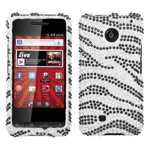 For Virgin Mobile PCD Chaser Crystal Diamond Bling Hard Case Phone