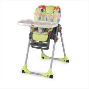 CHICCO POLLY HIGH CHAIR DOUBLE PAD FUN DOTS