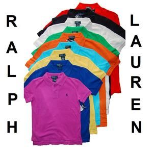 Ralph Lauren Polo Boys Shirt T Shirt Mesh Cotton Pick Your Color L 14