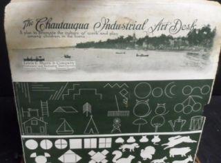 Chautauqua Industrial Art Desk Antique No 1 Meyers Nice