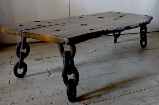 Artisan Shipwreck Exotic Wood Slab Table Bench