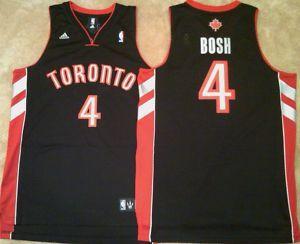 Chris Bosh Toronto Raptors Black Swingman Mens Sewn Jersey
