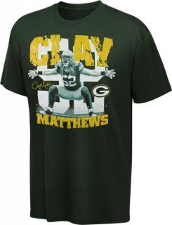 Green Bay Packers Green Reebok Clay Matthews Sackmaster T Shirt