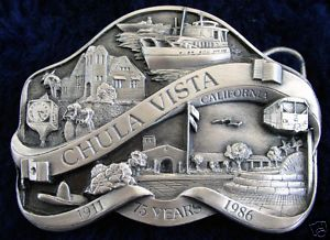 Vintage Chula Vista California California Belt Buckle