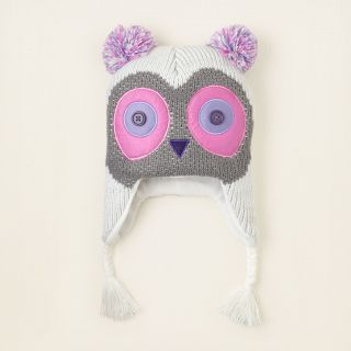 NWT THE CHILDRENS PLACE GIRLS OWL SWEATER KNIT WINTER HAT/CAP SIZE 4