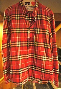 299 BURBERRY Brit Plaid Nova Check Sport Dress NEW COLLECTION Men