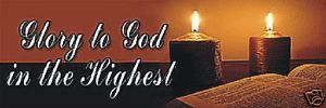 Bible Candles Religious Church Christmas Banner Sign