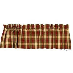 Chili Pepper Curtain Valance Red Green Plaid Valance Decor