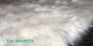 White Bear Skin Area Rugs Faux Fur Sheepskins Cabin Accent Shag