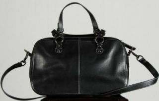 Coach Purse Black Chelsea Leather Satchel Purse Shoulder Bag 14017