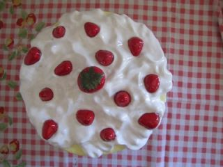 Strawberry Shortcake Vintage Cake Plate Keeper VGC Imperfect