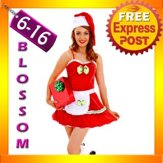 G71 Santa Claus Christmas Helper Fancy Dress Costume Xmas Party Outfit