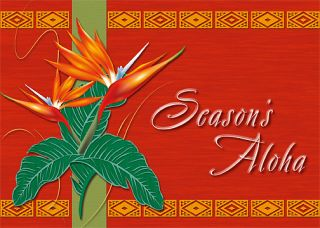12 Hawaiian Holiday Card Hawaii Christmas Season Floral