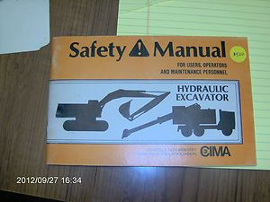 users operators and maintenance personnel HYDRAULIC EXCAV by CIMA