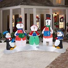 Christmas Carolers Lightshow Outdoor Christmas Yard Decor