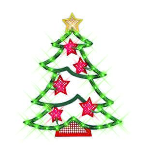 Christmas Tree Stars Window Light Lite Lighting Lights Holiday Decor