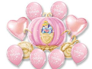 Disney Princess Cinderella Coach Carriage 33 Balloons Bouquet
