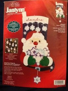 Janlynns Santas Snowflake Collection Felt Christmas Stocking Kit