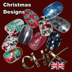 Chix Nail Wraps Foils Christmas Finger Toes Trendy Vinyl Art Nails
